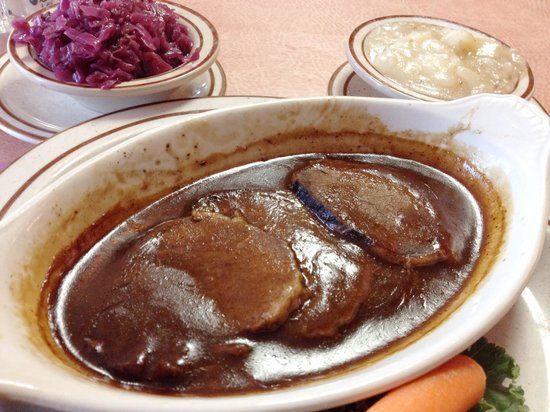 German Haus : Lunch size sauerbraten
