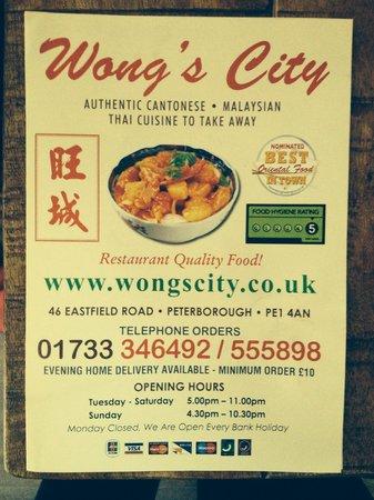 Wongs City Takeaway