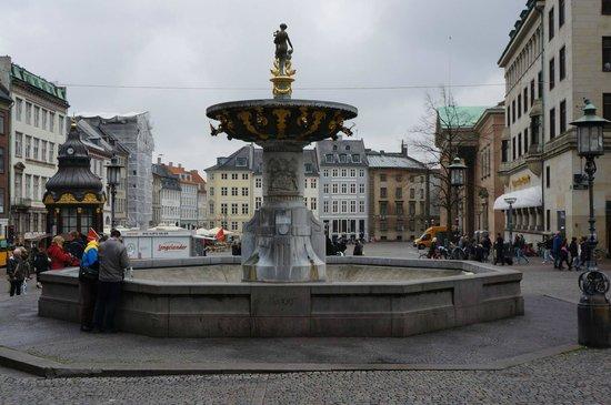 Copenhagen King's Square : The lovely fountain.
