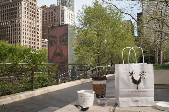 Club Quarters Hotel, Wacker at Michigan: Millennium Park and best breakfast at Pret on Michigan-take out