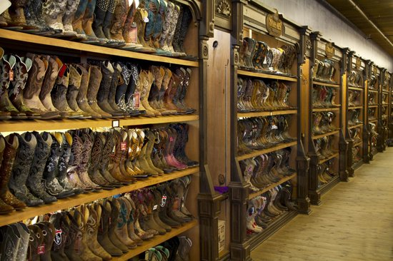 Stages West: Wall to wall boots!  Best selection I have seen anywhere.