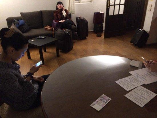 Karlova Apartments: первый уровень и куча чемоданов, вверх не потащили