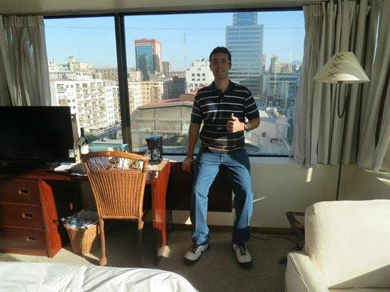 Hotel Galerias: Vista da Janela do Quarto