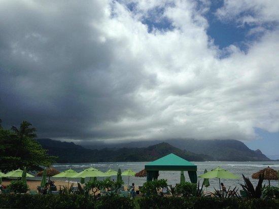 St. Regis Princeville Resort: Overlooking Hanalei