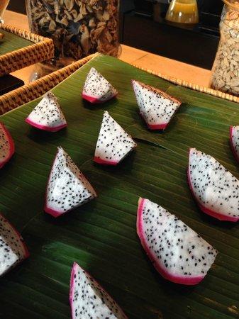Four Seasons Resort The Nam Hai, Hoi An: dragon fruit at the breakfast buffet