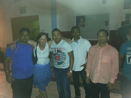 Me & the staff at Indian Ocean