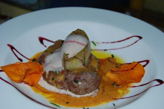 Hotel la Masia del Cadet: algunos platos..