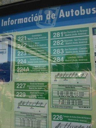SHS Hotel Aeropuerto: Rutas de autobus a Madrid