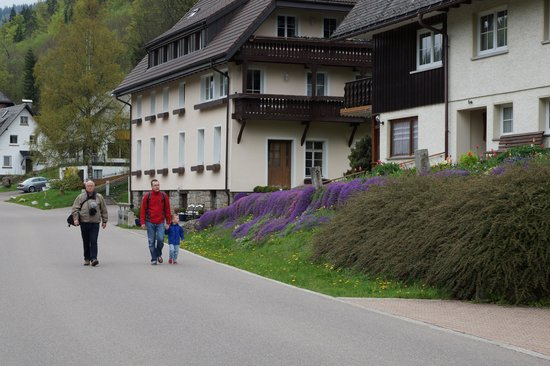 Hotel Grossbach : Impression of the street of the hotel
