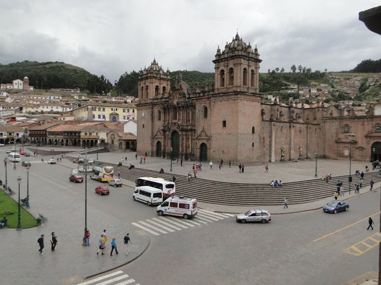 Centro Historico De Cusco: view of cathedral from jesuit church