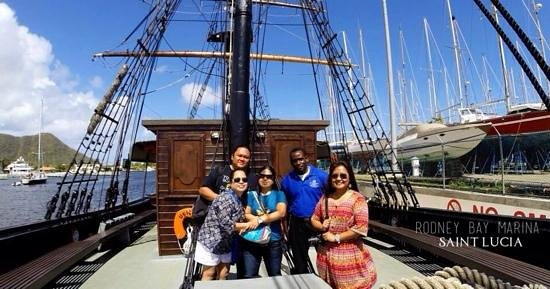 Rodney Bay Marina: Weather was just as beautiful!