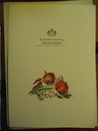 Cantinetta Antinori: Menu
