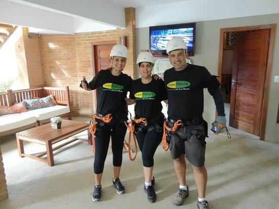 Fazenda Gamela Eco Resort: Rapel, mega-tirolesa e arvorismo!!!