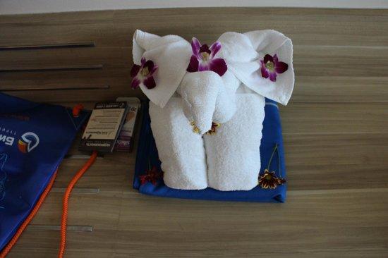 Holiday Inn Phuket Mai Khao Beach Resort : За скромные чаевые вам накрутят слонов или лебедей