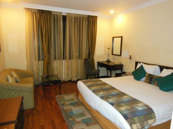 Crowne Plaza Kathmandu-Soaltee: The king bed in room #362 offered a comfortable night's sleep