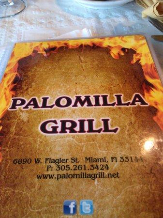 Palomilla Grill : Menu