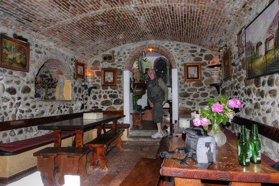Mick, posing inside Bar Vecchia Torre