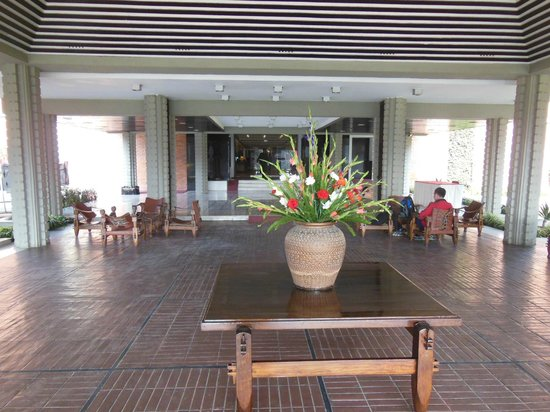 Crowne Plaza Kathmandu-Soaltee: An outdoor reception area at the entry to the hotel