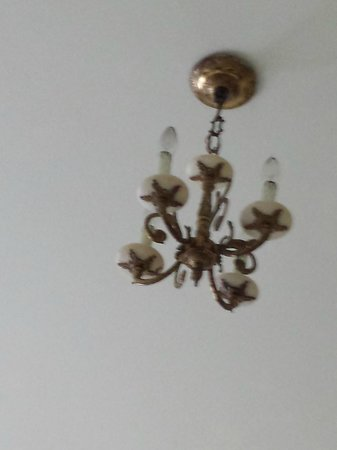 The Homestead: Vintage chandelier.