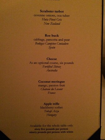 Norton House Hotel & Spa Edinburgh : Tasting menu