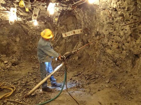 Sierra Silver Mine Tour: Equipment demonstration