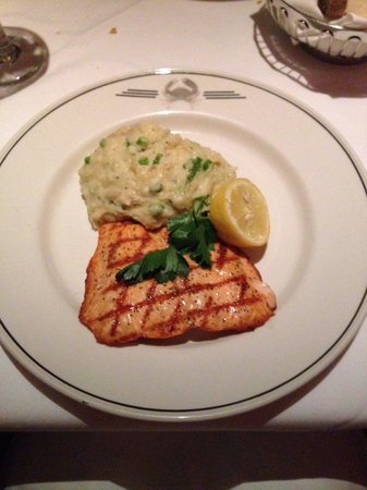Truluck's Restaurant : Salmon and Parmesan mashed potatoes.