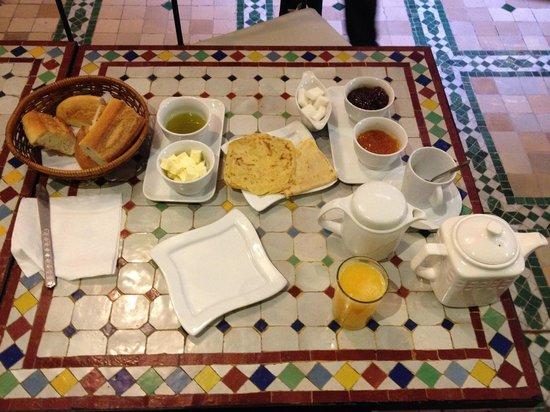 Riad Al Khansaa : petit-dejeuner