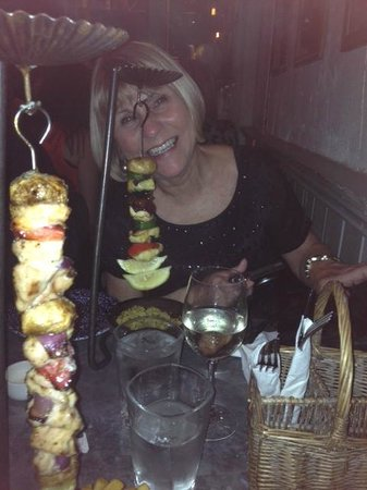 The Botanist: Hanging kebabs - yummy