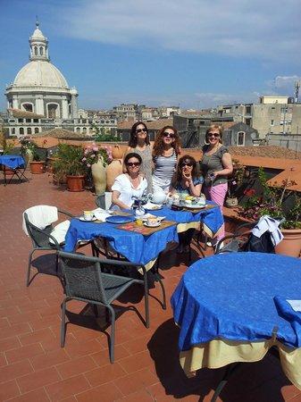 Bed & Breakfast San Placido Inn : breakfast in the terrace