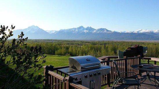 Pioneer Ridge Bed and Breakfast Inn : View from front door overlooking deck and picnic area