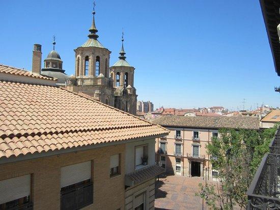 Catalonia El Pilar: View toward Plaza S Isabel from my balcony
