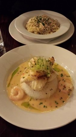 Galleria Restaurant : Grilled Monkfish with Tiger Prawns and Basmati Rice
