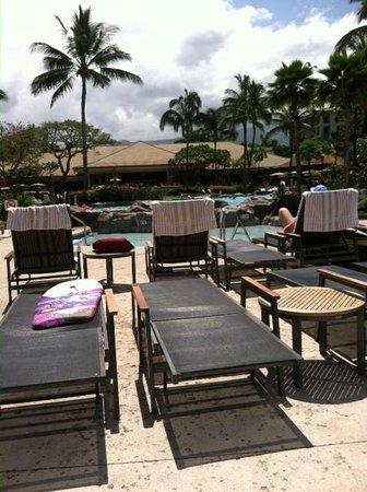 The Westin Kaanapali Ocean Resort Villas: Lounging at the pool