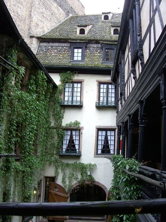 Musee Alsacien: The museum courtyard