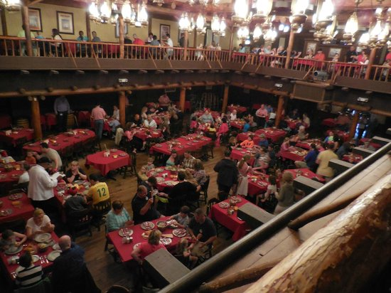 The Hoop-Dee-Doo Musical Revue: Filling up - view from the balcony