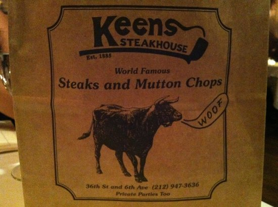 Keens Steakhouse: Old fashioned.