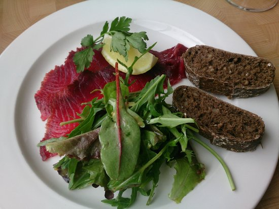 The Cambridge Chop House: Beetroot Salmon