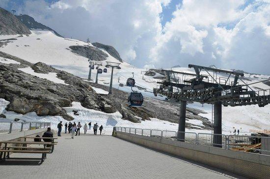 Hintertuxer Gletscher: Estação do bondinho