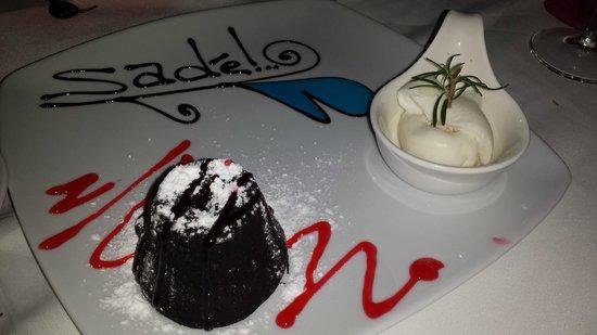 Sade Restaurant : The famous Sade Chocolate Fondant…mouth watering