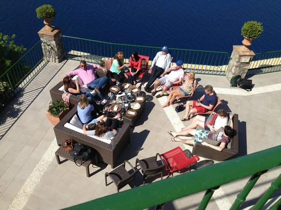Caesar Augustus Hotel : Gathering of clan on terrace. view from 207