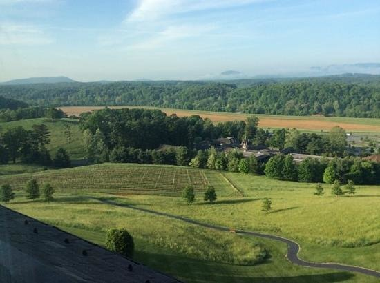 Inn on Biltmore Estate: Am view from our window down to antler village