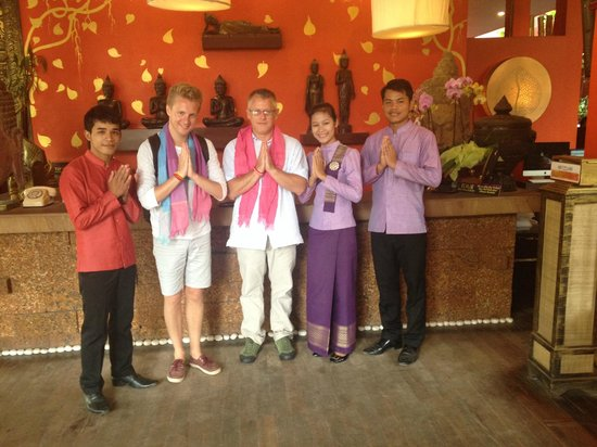 Golden Temple Hotel: departure, with staff