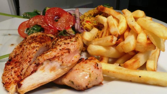 Chicken and chips fit chef style the healhiest and best
