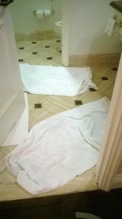 Caesars Palace : Water in bathroom floor