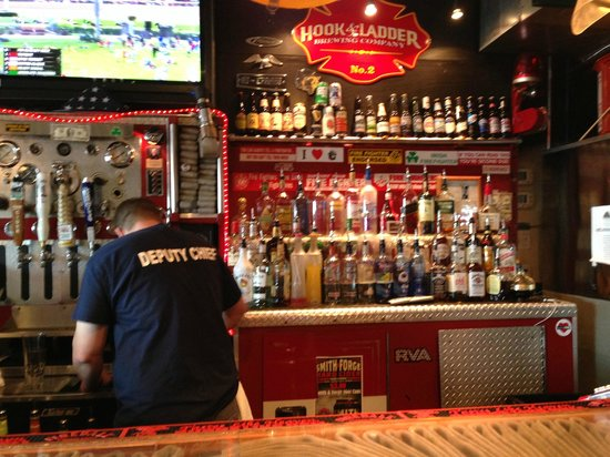 The Halligan Bar and Grill: more of the firetruck