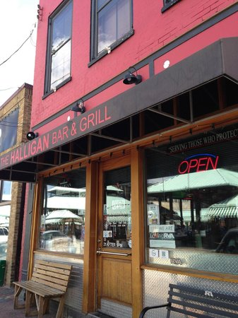 The Halligan Bar and Grill: outside restaurant