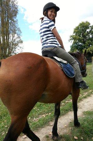 Briars Horse Trek: Teacher enjoying Nikita