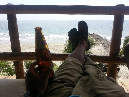 Pena Linda: Vista al mar desde el balcon principal