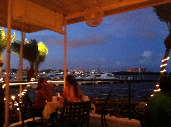 Chart House Restaurant : View from outdoor patio at sunset
