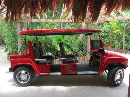 Ramon's Village Resort: The HUMMER golf cart we were picked up in!
